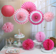 pink paper fans sets for baby 1st girl and boy happy birthday party decorations supplies crafts sets