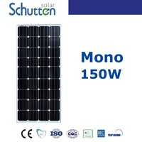 Small solar panel HIgh quality ! Monocrystalline solar module 150w for household