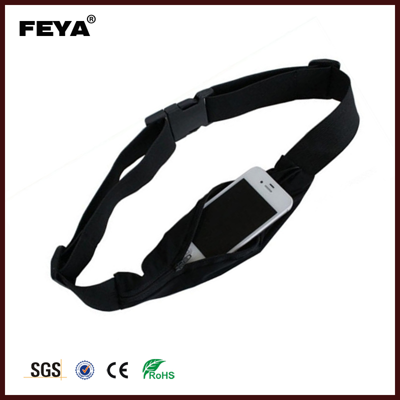 Hot selling running belt,sport elastic waist bag pack