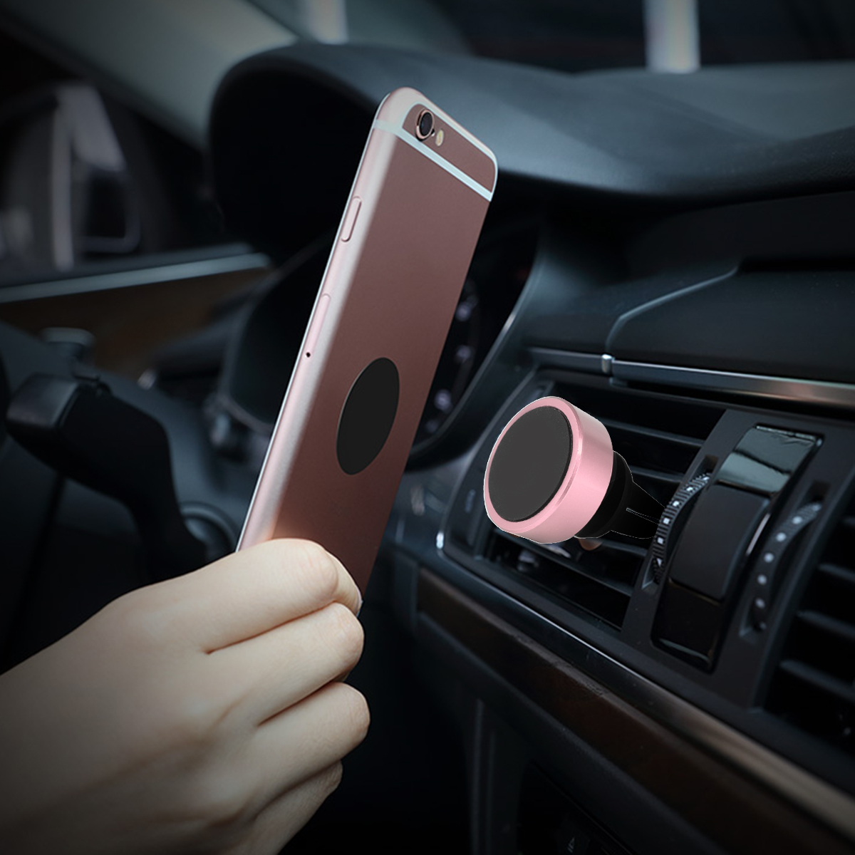 Factory Price Universal 360 degree Mini Magnetic Car Air Vent Mount Cell Phone Holder