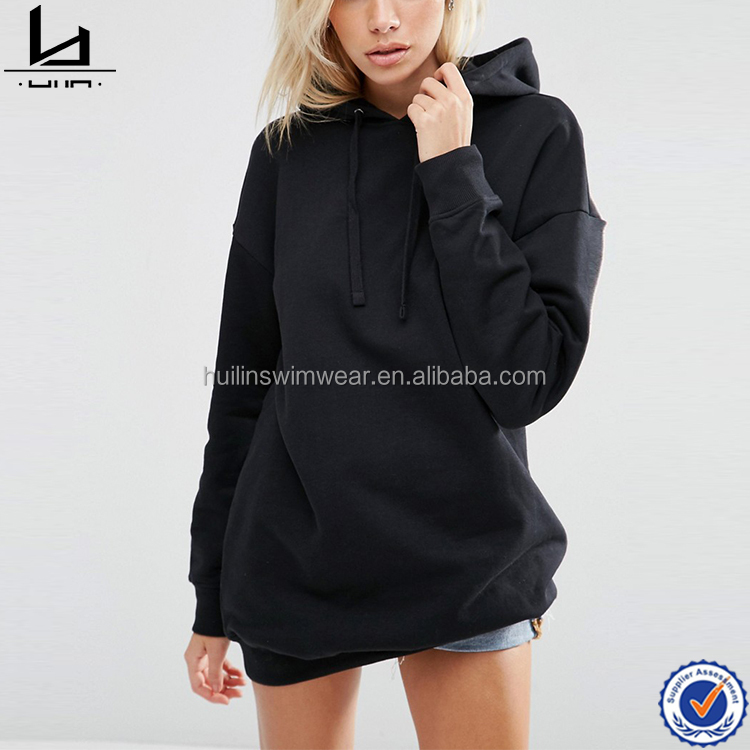 100% cotton pouch pocket fitted trims pullover hoodies women with drawstring hood