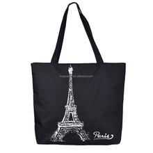 Delicate Promotion New Brand Fashion Black Eiffel Tower Shopping Shoulder Bag Women Tote HandBags