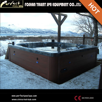 LUXURY spa with TV and LED light for outdoor spa massage