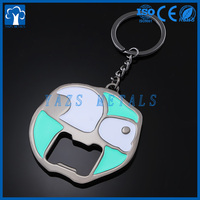 YAZS metal factory custom bottle opener key chain