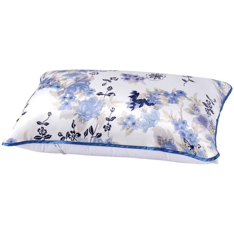 Suzhou Taihu Snow silk pillow case printed or plain dyed jacquard/dobby pillow towel