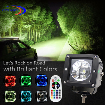 2017 newest electronic outdoor use waterproof machine work lights 20w RGB working light led 20w triple row light bar