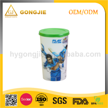 GJ-128, Taizhou,Gongjie, 2017 hot selling products, 16oz hard plastic cups with lid and straw