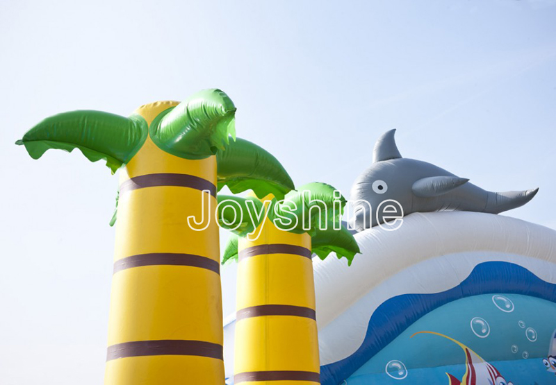 Water Amusement Jumping Castle Playground Kids Children Play Water Theme Parks Outdoor Giant Inflatable Water Park With Pool