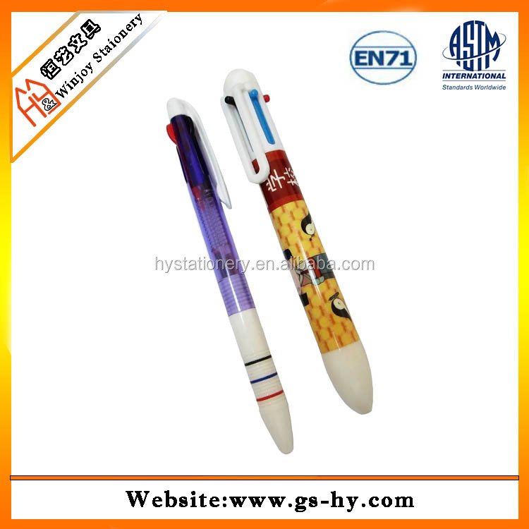 Automatic plastic 4 colour pen in competitive price