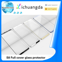 S8 3D full cover color original edge to edge tempered glass screen protector for samsung S8 S8 plus
