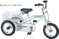 bicycles with three wheels/bicycle trailer/adult tricycle with child seat nanyang clamber OEM 7013