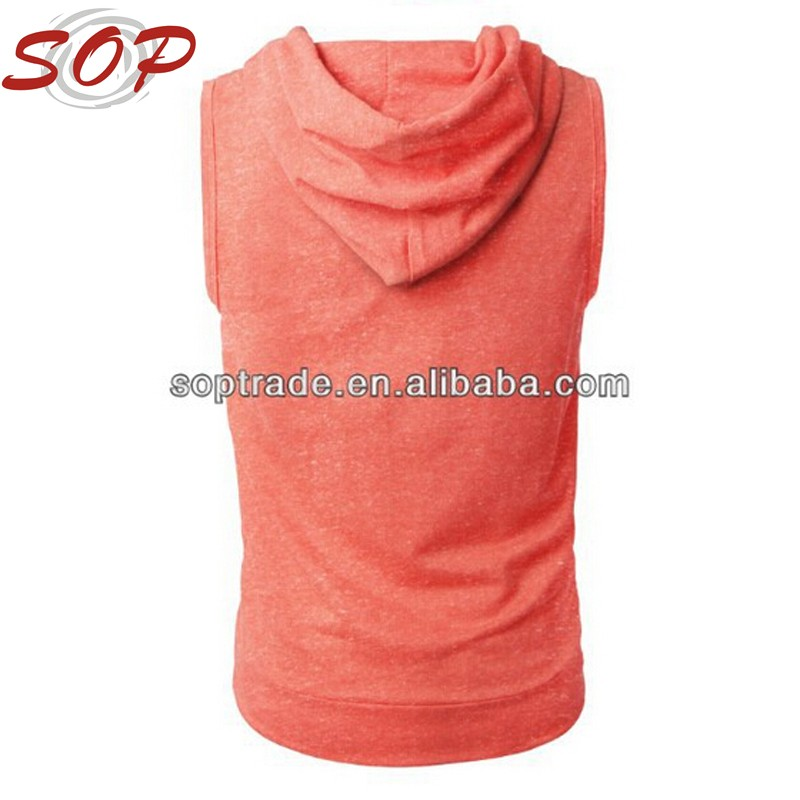 Summer Sport Wear For Men stylish Design Your Own Style Blank Plain Sleeveless Hoodie