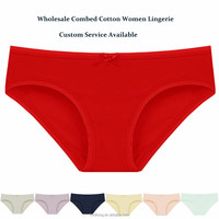 Wholesale Women Cotton Solid Color Hipster Seamless Underwear Female Lingerie