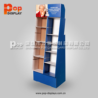 newest OEM products 2016 cardboard honey floor stand display