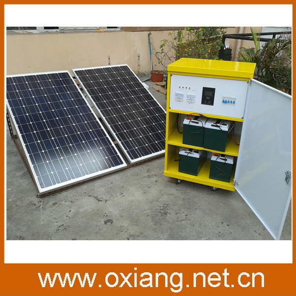 3kw,4kw solar power system with 1000w solar panel and batteries