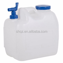 23L plastic water carry with tap water, plastic bucket with spout for camping, drinking water container for tap water