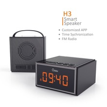 China supplier latest design LED clock and radio built-in smart bluetooth speaker, hand free phone speaker
