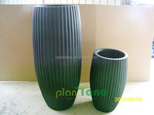 tall stripe planter poly resin flower pot water proof
