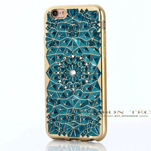 new phone case with floating diamond for iphone 6 case silicone,for iphone case dropship
