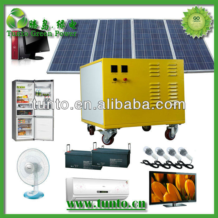 Best AC solar energy system price 1700-1800USD/set (SP600-1200),easy handy,best price,optional solar panels