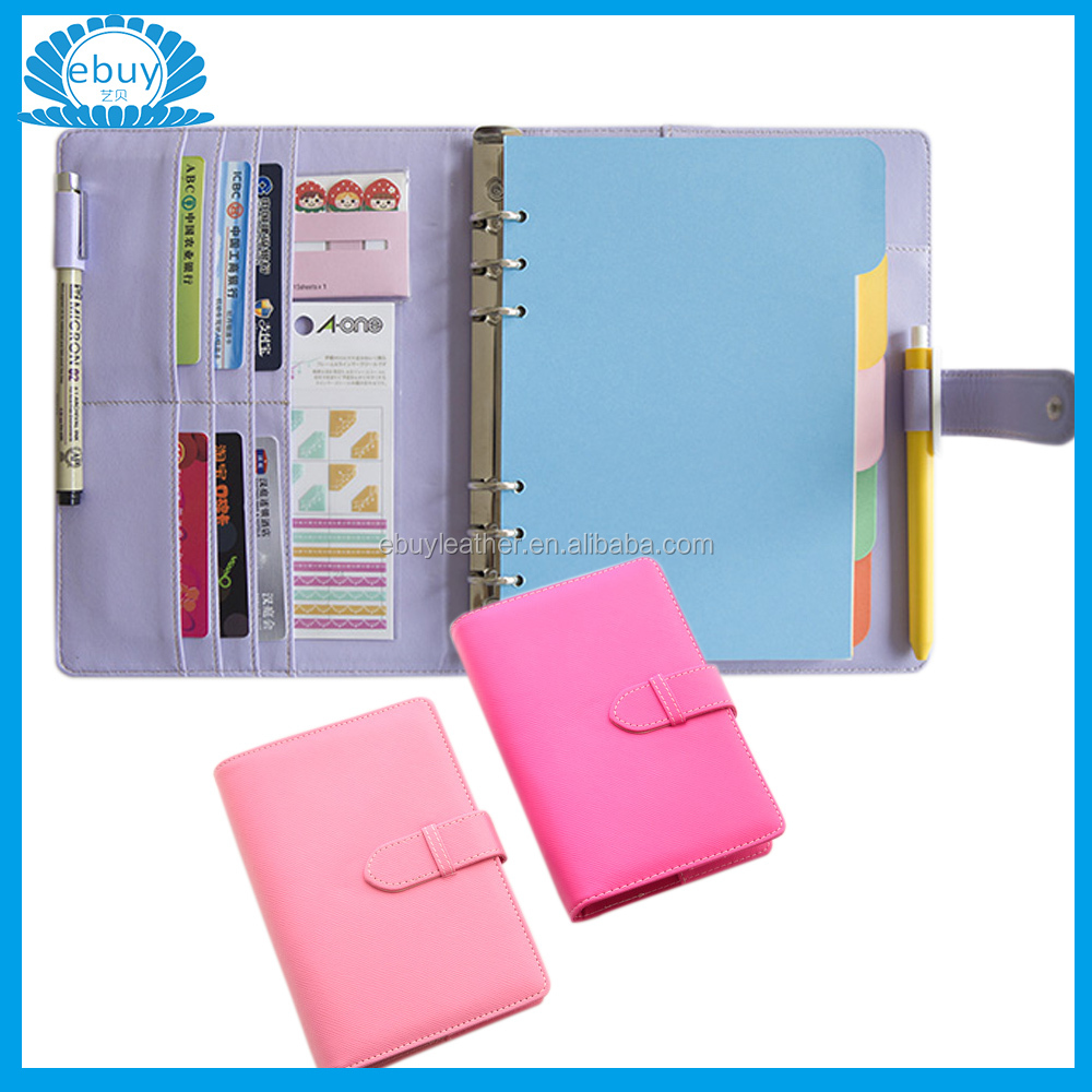 Candy 2016 organizer a5 day planner PU Leather Cover Material