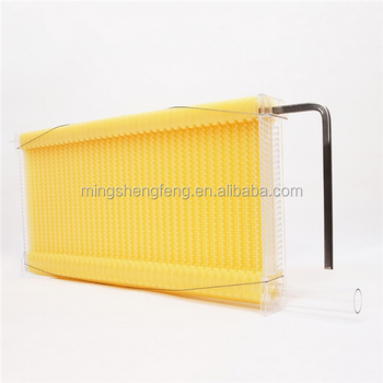 Beekeeping 7pcs food grade plastic honey flow bee hive frame combs kit