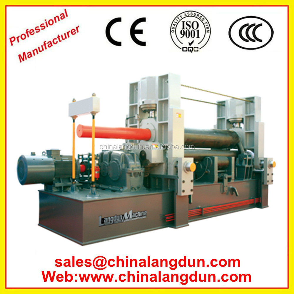 <strong>W11</strong> Series CNC Double Motors 3-Roller Hydraulic Plate pre-bending rolling machine
