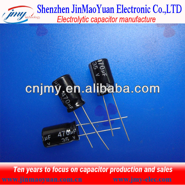 Cheap Price From Manufacturer Aluminum Electrolytic Capacitor 470uf 35v