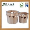 mini decor recyle FSC wood paulowina bucket handicraft on sale
