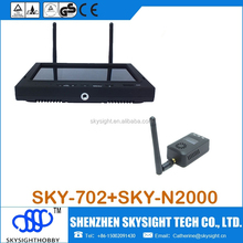 Sky-N2000 5.8ghz fpv video transmit +SKY-702 LCD diversity receiver with foldable sunshade cover for pro5.8g fpv rc quadcopter