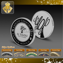 Soft Enamel Golf Course Golf Ball Marker For Cancun Country Club