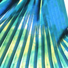 Printed and pleated chiffon fabric