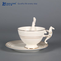professional custom personal ceramic teacup / unbreakable porcelain tea cups / best China teacup for sale