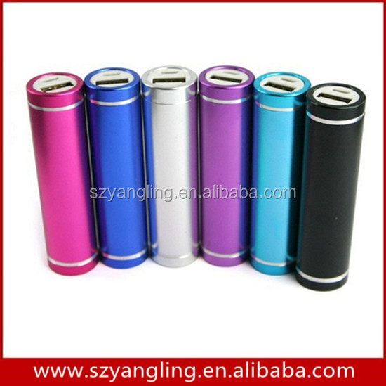 2016 Aluminum 18650 USB Battery Portable Power Bank 2600mAh For Christmas Gift