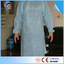 surgical pe visitor coat hospital cpe gown sterile pe lab coat disposable