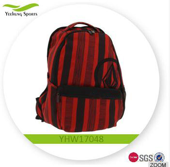 Promotional Red Vertical School Backpack for youngers