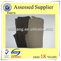 Spandex and polyester mixed Women Pant