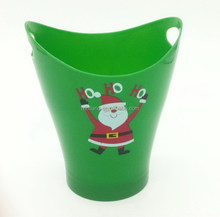 PP stanta clause design double ears plastic cup