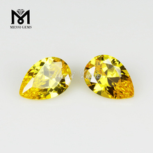 faceted yellow color stabilized zirconia in loose gemstones cz