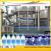 Best automatic three in one unit bottled water production line/buy pure water filling plant