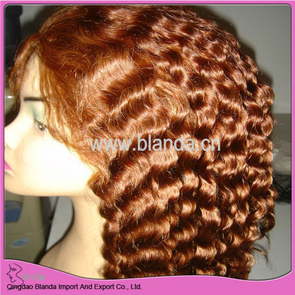 Most fashionable european human hair virgin remy full lace wig