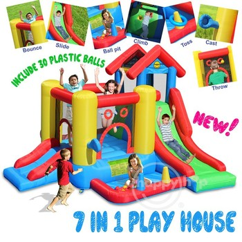 Happy Hop Inflatable Bouncer for Kids -9019 7 in 1 Play House