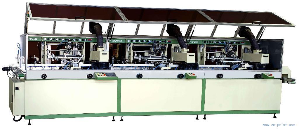 Automatic 3-colour cylinder UV Screen Printer automatic auto nail printer