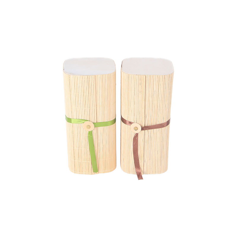 Customized rectangle nature bamboo curtain packaging gift box