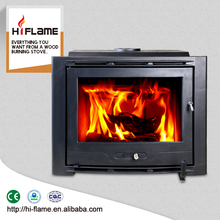 Best selling Hiflame 25kw 2500sq ft cast iron wooden fireplace insert for home heating HF577IU7