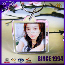 Blank Acrylic Keychains key chains Insert Photo custom plastic Keyrings