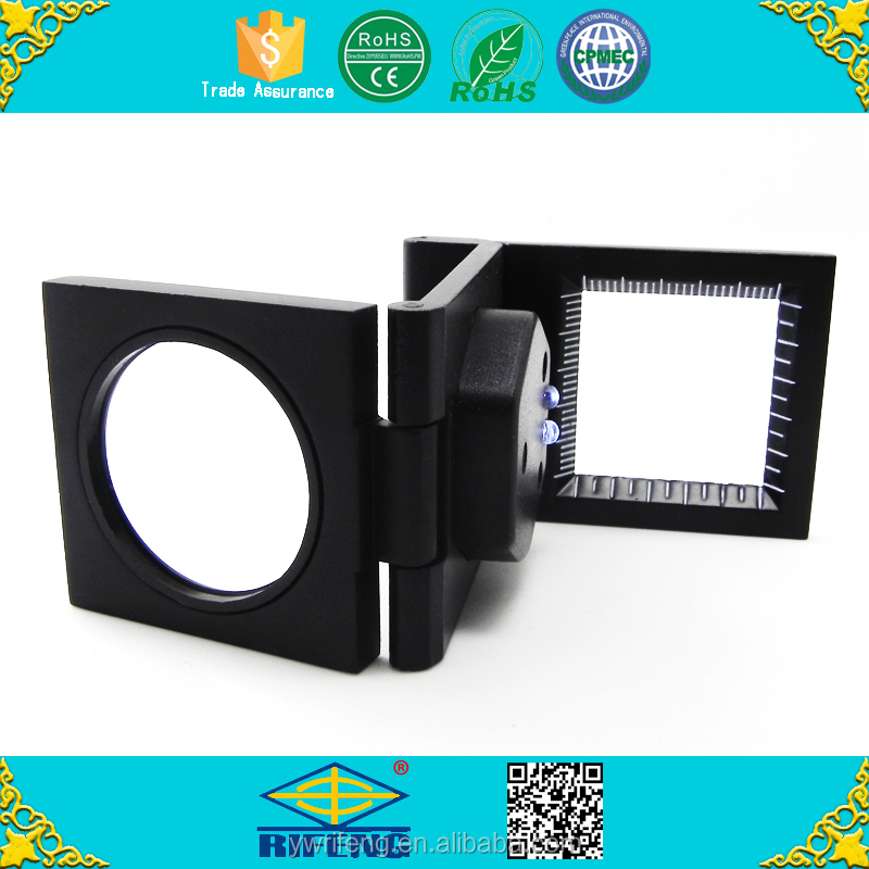 Foldable Plastic Led Magnifying Glass with Light Loupe for Textile Measuring