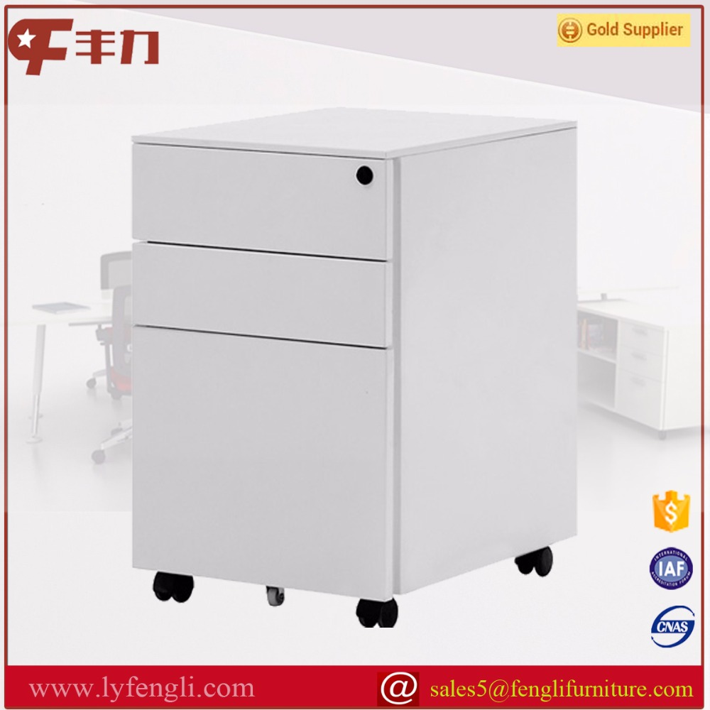 Steel furniture for office white mobile pedestal 3 drawers units