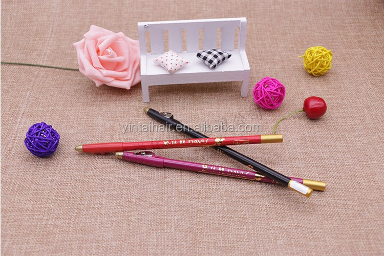 Wooden Eyeliner Pencil with Sharpener Waterproof Eyebrow Eyeliner Pencil