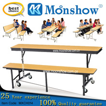 12 wood/plastic/plate/glass fiber seats Dining table set ,MOONSHOW furniture